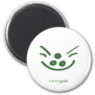 Símbolo codicioso verde de SymTell Iman Para Frigorífico