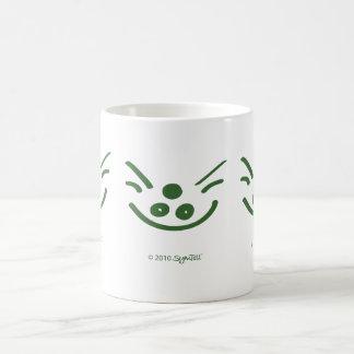 Símbolo codicioso verde de SymTell Taza
