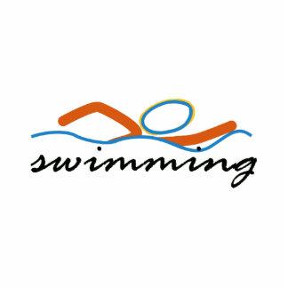 Símbolo colorido de la nadada adorno fotoescultura