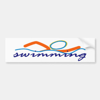 Símbolo colorido de la nadada pegatina para auto