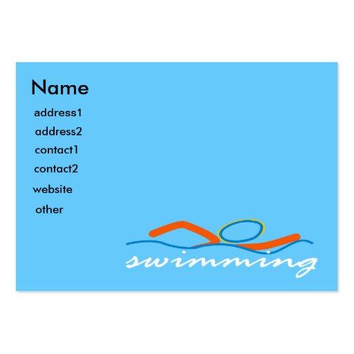 Símbolo colorido de la nadada tarjetas de visita grandes