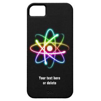 Símbolo colorido del átomo del resplandor funda para iPhone 5 barely there