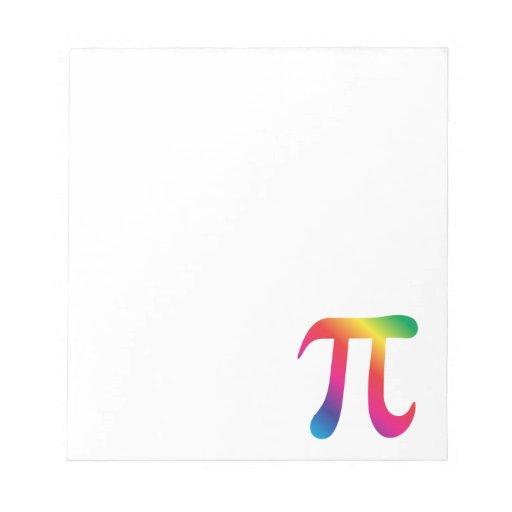 Símbolo colorido del pi bloc