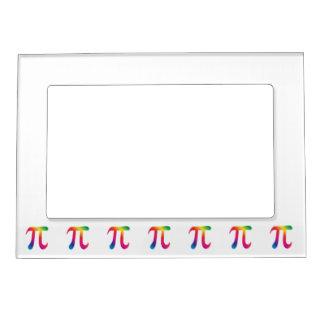 Símbolo colorido del pi marcos magneticos de fotos
