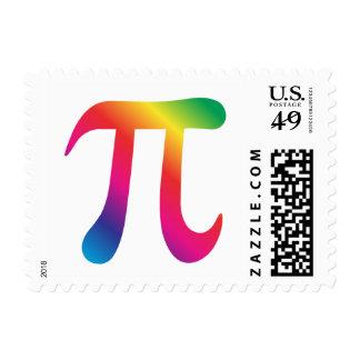 Símbolo colorido del pi envio