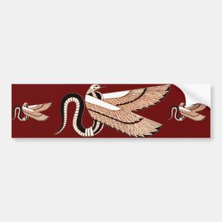 Símbolo con alas egipcio antiguo de la serpiente pegatina para auto