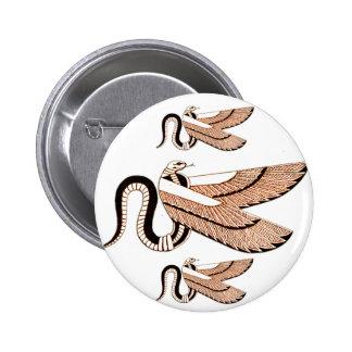 Símbolo con alas egipcio antiguo de la serpiente pin
