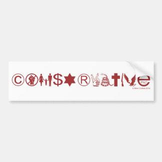 Símbolo conservador pegatina de parachoque