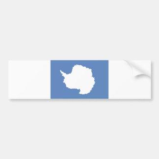 Símbolo continente de la bandera de la Antártida Etiqueta De Parachoque
