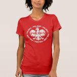 Símbolo coronado Polska de Polonia Eagle Tshirt