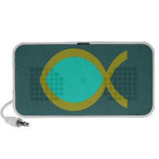 Símbolo cristiano de los pescados iPhone altavoz