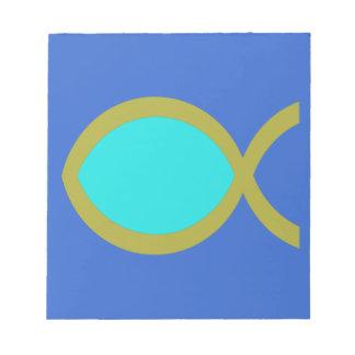 Símbolo cristiano de los pescados blocs