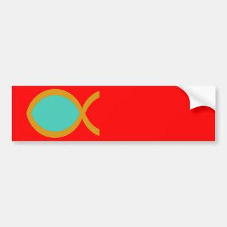 Símbolo cristiano de los pescados pegatina de parachoque