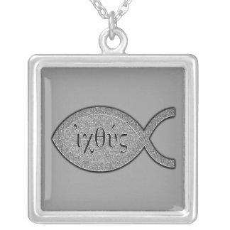 Símbolo cristiano de los pescados de IXOYE - efect Collar
