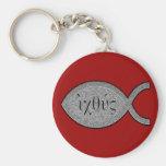 Símbolo cristiano de los pescados de IXOYE - efect Llaveros Personalizados