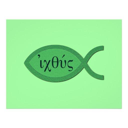 Símbolo cristiano de los pescados de IXOYE - Tarjetas Publicitarias