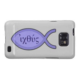 Símbolo cristiano de los pescados de IXOYE - Samsung Galaxy SII Carcasa