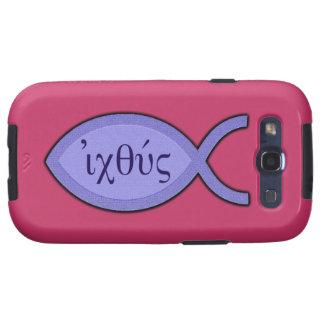 Símbolo cristiano de los pescados de IXOYE - Samsung Galaxy S3 Coberturas
