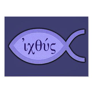 """Símbolo cristiano de los pescados de IXOYE - Invitación 5"""" X 7"""""""