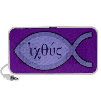 Símbolo cristiano de los pescados de IXOYE - perga Mp3 Altavoces