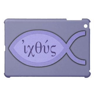 Símbolo cristiano de los pescados de IXOYE - perga iPad Mini Cárcasas
