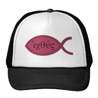 Símbolo cristiano de los pescados de IXOYE - perga Gorras De Camionero