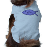 Símbolo cristiano de los pescados de IXOYE - perga Camisetas Mascota