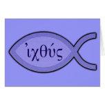 Símbolo cristiano de los pescados de IXOYE - Tarjetas