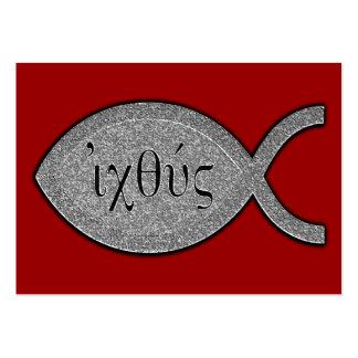 Símbolo cristiano de los pescados de IXOYE - Tarjetas De Visita Grandes
