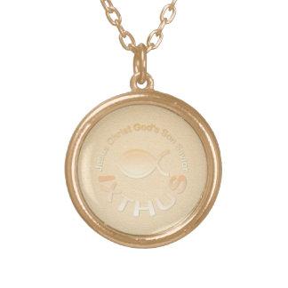 Símbolo cristiano de los pescados de IXTHUS - ORO Joyería