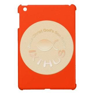 Símbolo cristiano de los pescados de IXTHUS - ORO iPad Mini Carcasa