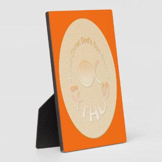 Símbolo cristiano de los pescados de IXTHUS - ORO Placas Con Fotos