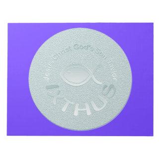 Símbolo cristiano de los pescados de IXTHUS - PLAT Libreta Para Notas