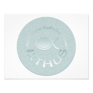 Símbolo cristiano de los pescados de IXTHUS - PLAT Anuncio Personalizado