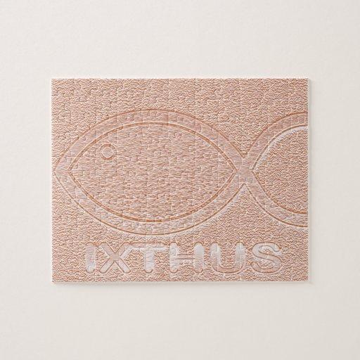 Símbolo cristiano de los pescados de IXTHUS - Rompecabeza Con Fotos