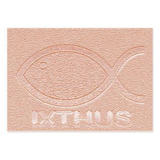 Símbolo cristiano de los pescados de IXTHUS - Tarjetas De Visita Grandes