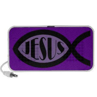 Símbolo cristiano de los pescados de JESÚS Notebook Altavoces