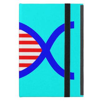 Símbolo cristiano de los pescados de la bandera iPad mini carcasas