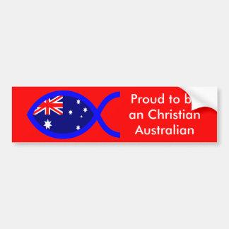 Símbolo cristiano de los pescados de la bandera pegatina para auto