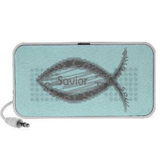 Símbolo cristiano de los pescados del salvador de  iPhone altavoces