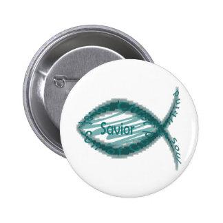 Símbolo cristiano de los pescados del salvador de  pin