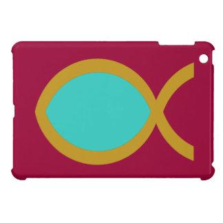 Símbolo cristiano de los pescados iPad mini funda