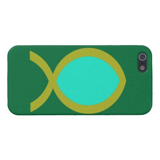 Símbolo cristiano de los pescados iPhone 5 carcasa