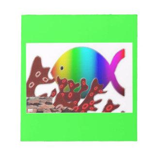 Símbolo cristiano de los pescados - océano del arc blocs de papel