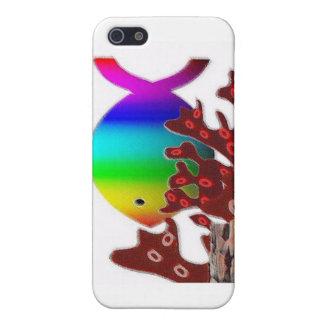 Símbolo cristiano de los pescados - océano del arc iPhone 5 cárcasa