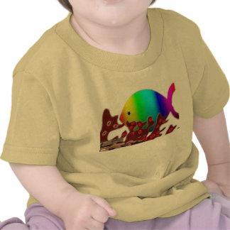 Símbolo cristiano de los pescados - océano del arc camiseta