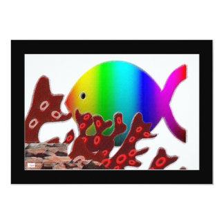 """Símbolo cristiano de los pescados - océano del invitación 5"""" x 7"""""""