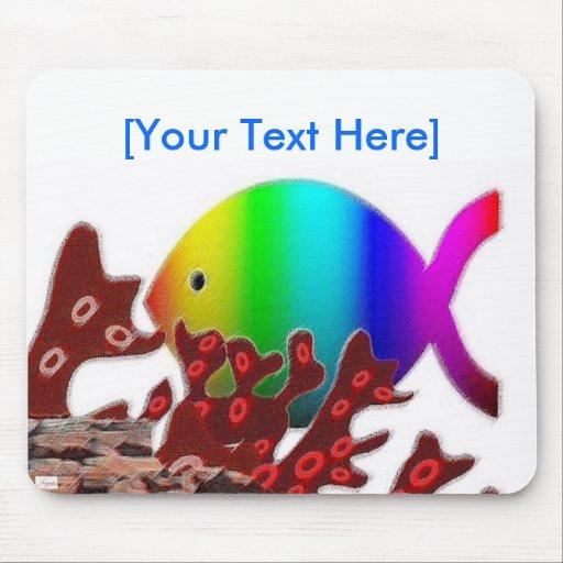 Símbolo cristiano de los pescados - océano del tapete de raton