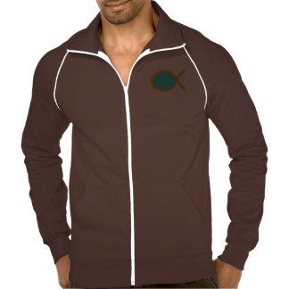 Símbolo cristiano de los pescados chaquetas