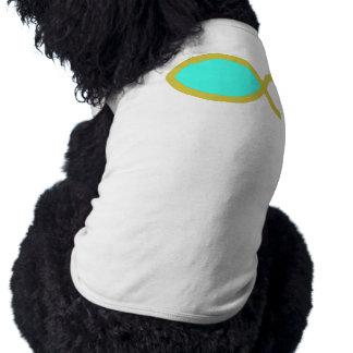 Símbolo cristiano de los pescados ropa perro